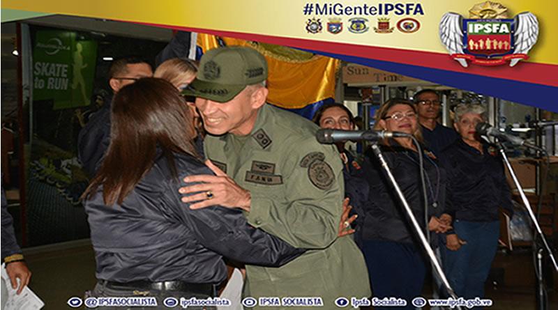 """El tema """"Venezuela"""" se escuchó bajo las voces de la coral del Instituto de Previsión Social de la Fuerza Armada (IPSFA)"""